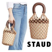 STAUD Casual Style Leather Office Style Elegant Style Bags