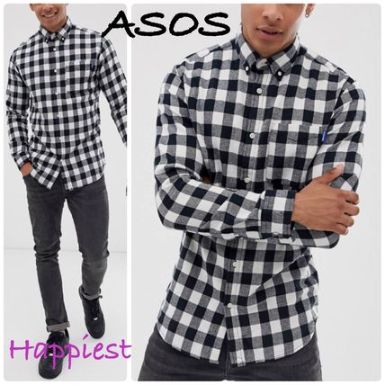 ASOS Shirts Button-down Other Check Patterns Long Sleeves Shirts