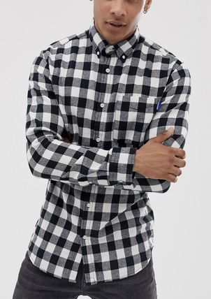 ASOS Shirts Button-down Other Check Patterns Long Sleeves Shirts 2