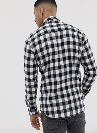 ASOS Shirts Button-down Other Check Patterns Long Sleeves Shirts 3