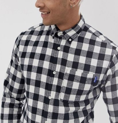 ASOS Shirts Button-down Other Check Patterns Long Sleeves Shirts 4