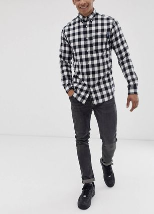 ASOS Shirts Button-down Other Check Patterns Long Sleeves Shirts 5
