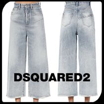 D SQUARED2 Denim Street Style Plain Cotton Long Wide & Flared Jeans