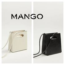 MANGO Faux Fur Shoulder Bags