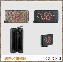 GUCCI GG Supreme Unisex Other Animal Patterns Long Wallets