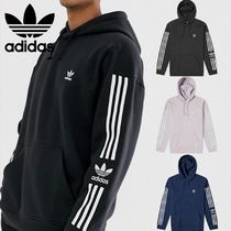 adidas Pullovers Stripes Sweat Street Style Long Sleeves Hoodies