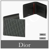 Christian Dior Leather Folding Wallets