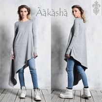 Aakasha Long Sleeves Plain Cotton Long Handmade Bold Tunics