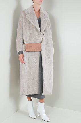 Casual Style Wool Plain Long Office Style Elegant Style