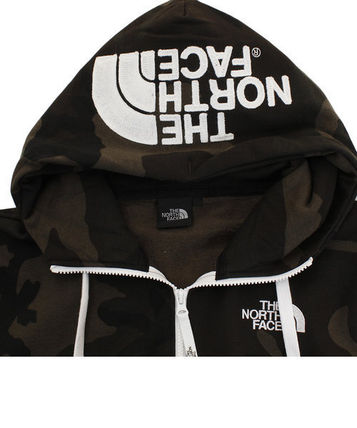 THE NORTH FACE Hoodies Camouflage Unisex Long Sleeves Cotton Logo Outdoor Hoodies 4