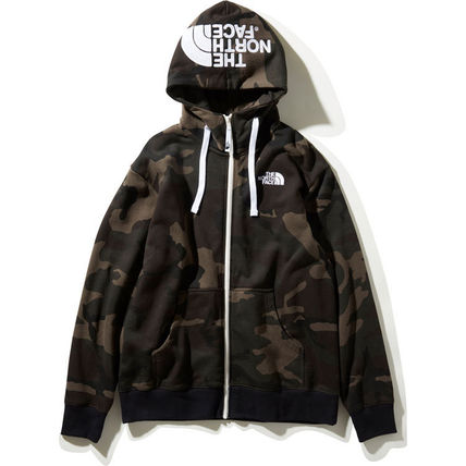 THE NORTH FACE Hoodies Camouflage Unisex Long Sleeves Cotton Logo Outdoor Hoodies 5