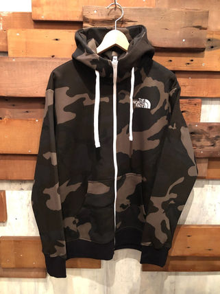 THE NORTH FACE Hoodies Camouflage Unisex Long Sleeves Cotton Logo Outdoor Hoodies 7