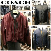 Coach Short Nylon Blended Fabrics Plain MA-1 Jackets