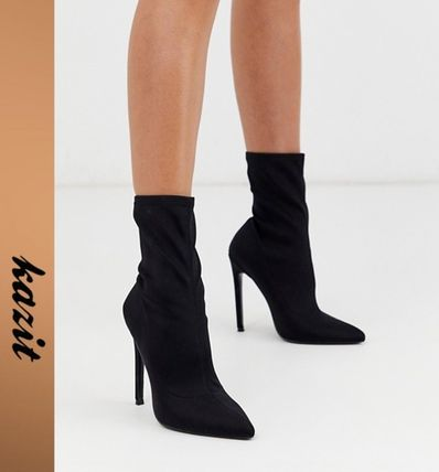 Casual Style Pin Heels Ankle & Booties Boots