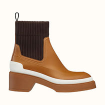 HERMES Plain Toe Casual Style Suede Blended Fabrics Bi-color