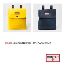 HUNTER Casual Style Collaboration Plain PVC Clothing Backpacks