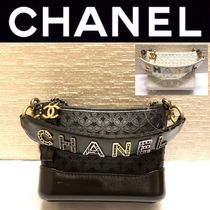 CHANEL ICON Casual Style Calfskin Blended Fabrics Street Style 2WAY