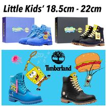 Timberland Unisex Street Style Collaboration Kids Girl Boots