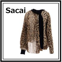 sacai Leopard Patterns Casual Style Long Sleeves Medium