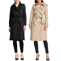 LAUREN RALPH LAUREN Plain Long Elegant Style Trench Coats