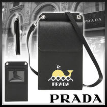 PRADA Street Style Plain Other Animal Patterns Leather