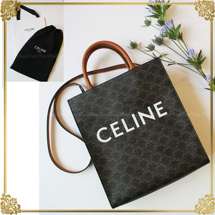 CELINE Triomphe Canvas Canvas Unisex A4 3WAY Office Style Totes