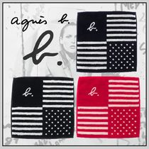 Agnes b Stripes Dots Cotton Handkerchief
