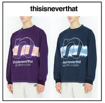 thisisneverthat Unisex Tie-dye Long Sleeves Cotton Long Sleeve T-Shirts