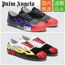 Palm Angels Street Style Leather Sneakers