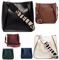 Stella McCartney STELLA LOGO Casual Style Faux Fur Street Style 2WAY Plain Shoulder Bags