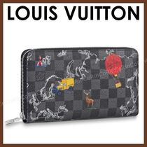 Louis Vuitton DAMIER GRAPHITE Unisex Canvas Street Style Long Wallets