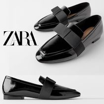 ZARA Plain Toe Casual Style Plain Leather Loafer & Moccasin Shoes