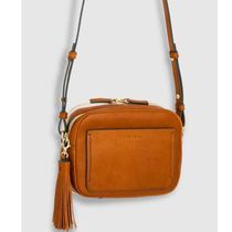 The Horse Casual Style Street Style Plain Leather Crossbody