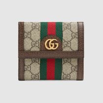 GUCCI Ophidia Ophidia Gg French Flap Wallet