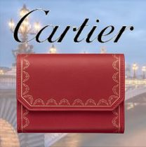 Cartier Unisex Leather Home Party Ideas Folding Wallets