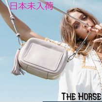The Horse Casual Style Tassel Street Style Plain Leather Shoulder Bags