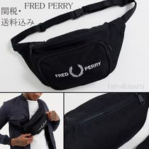 FRED PERRY Unisex Street Style 2WAY Plain Hip Packs