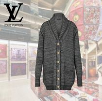 Louis Vuitton Cable Knit Casual Style Wool Rib Long Sleeves Long Knitwear