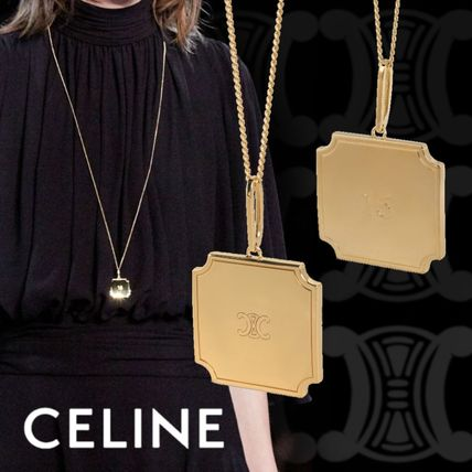 CELINE Celine Separables 16 Plate Pendant In Brass With Gold Finish