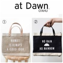 at Dawn. O'AHU Unisex Collaboration Plain Leather Shoppers