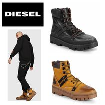 DIESEL Mountain Boots Plain Leather Outdoor Boots