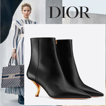 Christian Dior Plain Leather Ankle & Booties Boots
