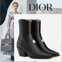 Christian Dior Star Leather Ankle & Booties Boots