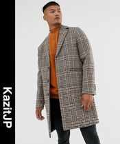 ASOS Other Check Patterns Wool Chester Coats