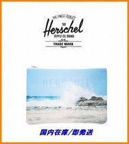 Herschel Supply Tropical Patterns Casual Style Unisex Nylon Clutches