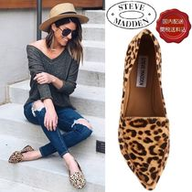Steve Madden Leopard Patterns Casual Style Street Style Leather