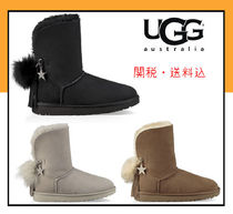 Round Toe Casual Style Suede Flat Boots