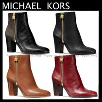 Michael Kors Casual Style Plain Leather Ankle & Booties Boots