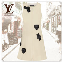 Louis Vuitton Short Casual Style A-line Wool Silk Nylon Blended Fabrics
