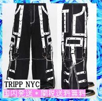 TRIPP NYC Blended Fabrics Studded Street Style Chain Cotton Oversized